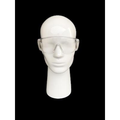 Sur-lunette en plastique transparente