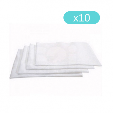 Chiffons Jersey Blancs Lavables et Réutilisables (Lot de 10 sachets)