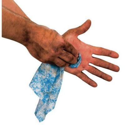 Lingettes nettoyantes mains et matériels