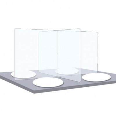 Hygiaphone Table Cantine - Vitre de Protection Plexiglass
